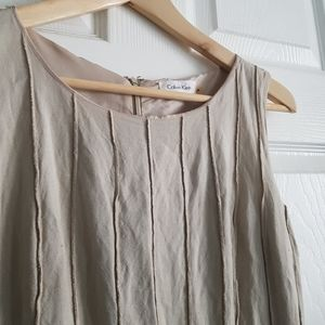 Calvin Klein Lined Dress with Belt